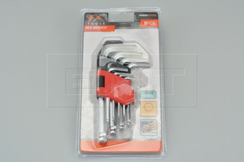 Sada imbusových klíčů FX - Hexagon 9ks - 8719202247152