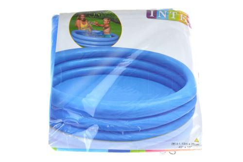 Modrý kulatý bazén se třemi nafukovacími prstenci - 114x25cm - 6941057402420