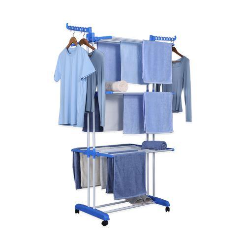 Herzberg HG-8034BLU: Stojan na oděvy modrý