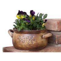 Keramický květináč na bylinky - varianta B - včetně podmisky