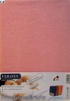 VERATEX Froté prostěradlo jednolůžko 90x200/16cm růžová