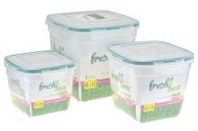 Plastový box se silikonovým těsněním PLAST ART - Set 3ks 3.6+2+1.1l - 8696219382758