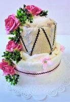 VERATEX Veratex Textilní dort 2- SS dvoupatrový