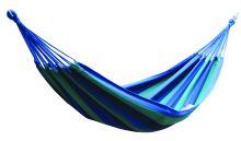 DIMENZA komfortní a prostorná houpací látková síť pro jednu osobu vmnoha barevných provedeních. Barva: modrá s pruhy - DF-003038