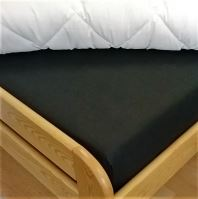 VERATEX Bavlněné prostěradlo s gumou 110x200 cm (černá)