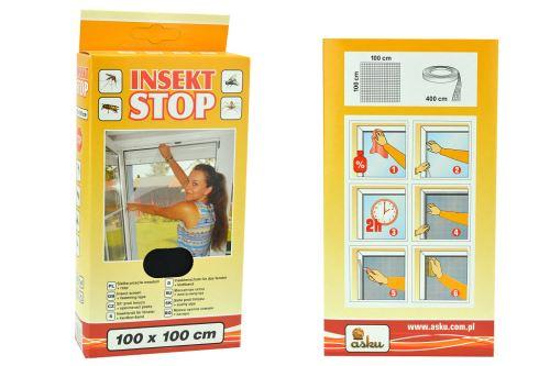 Síť proti hmyzu 100x100cm - Černá - 5902768717242