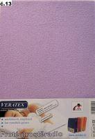 VERATEX Froté prostěradlo  90x220cm (č.13-fialková)