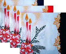 VERATEX Bavlněné utěrky svícen 50x70cm BALENÍ (3ks) 100% Bavlna vánoční