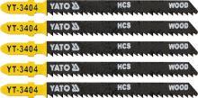 Yato List pilový do přímočaré pily 100 mm na dřevo TPI10 5 ks YT-3404