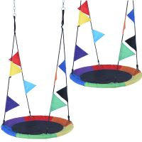 Houpací kruh vícebarevné vlajky 100cm