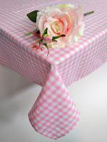VERATEX Bavlněný ubrus tkaný 120x140cm kanafas růžové srdíčko