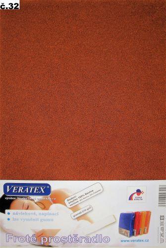 VERATEX Froté prostěradlo 120x220 cm (č.32 skořicová)