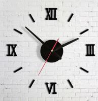 Nástěnné hodiny černé římské číslice