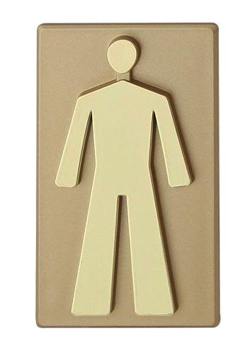 Označení WC samolepící PCV