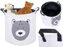 Organizér koš na prádlo kontejner na hračky oblečení medvídek
