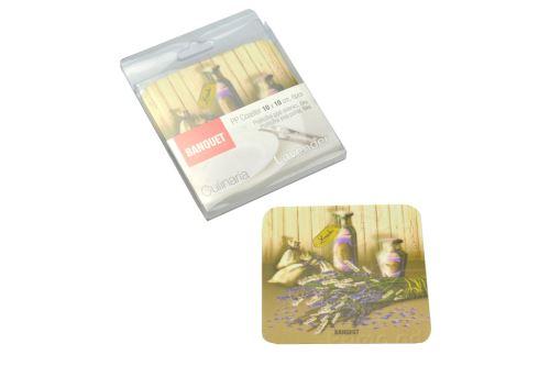 Podložky pod sklenice set 6ks Culinaria BANQUET (10x10cm) - Levandule - 8591022336960