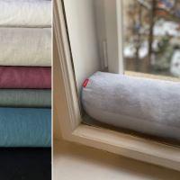 Aesthetic Dveřní a okenní ochrana proti průvanu - 100% len - gramáž: 245 g/m2 MIX barev Barva: Steel Grey