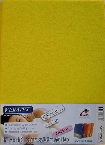 VERATEX Froté prostěradlo 140x220 cm (č. 6-stř.žlutá)