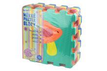 Měkké puzzle bloky (32cm) s rostlinami - Set 10ks - 8590331186228