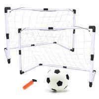 Fotbalové branky pro děti 2v1 (2ks-92x65x40cm / 1ks-180x120x60) + míč + pumpa