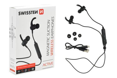 Magnetická bezdrátová sluchátka SWISSTEN Active - 8595217460324