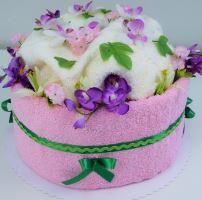 VERATEX Veratex Textilní dort orchidej - jednopatrový