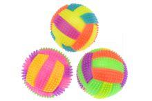 Barevný gumový blikací míček GAZELO (7cm) - Mix barev 1ks - 5900949412412