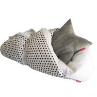 Aesthetic Rychlo-zavinovačka péřová -  100% bavlněné plátno - Hvězdička modrá / bílá 75x75cm