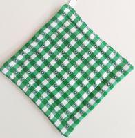 VERATEX Textilní podložka pod hrnec 20x20cm zelený kanafas tkaný