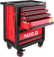 Yato Skříňka dílenská pojízdná 6 zásuvek červená YT-0902