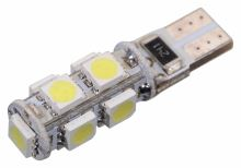 Compass Žárovka 9 SMD LED 12V T10 s rezistorem CAN-BUS ready bílá 33795