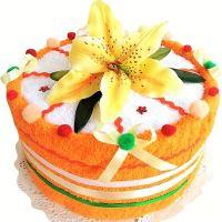 VERATEX Veratex Textilní dort oranžová lilie jednopatrový