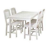 Stůl + 4 židle 8849 bílý lak IDEA nábytek