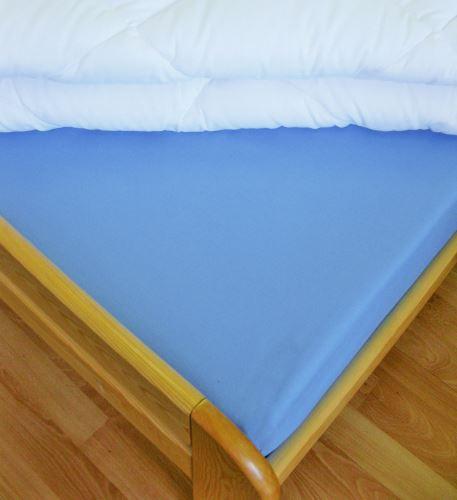 VERATEX Bavlněné prostěradlo s gumou  90x200 cm do výšky matrace 15 cm (modré)