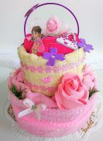 VERATEX Veratex Textilní dort dětský - pro dívky