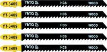Yato List pilový do přímočaré pily 115 mm na dřevo TPI8 5 ks YT-3409