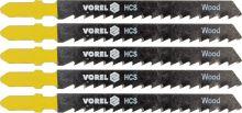 Vorel List do přímočaré pily 100 mm na dřevo, plast a dřevotříska TPI8 5 ks TO-27812