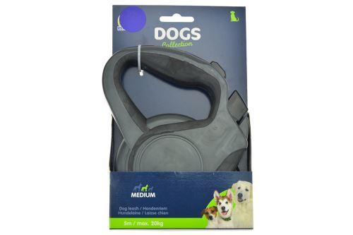 Samonavíjecí vodítko pro psy DOGS 5m, max 20kg
