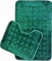 VERATEX Koupelnová předložka 2-dílný set (zelená kostka)
