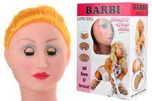 Nafukovací panna s 3D hlavou - Barbi - 8466216000210