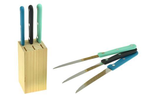Steakové nože v dřevěném podstavci EH - Set 7ks - 8719202513974