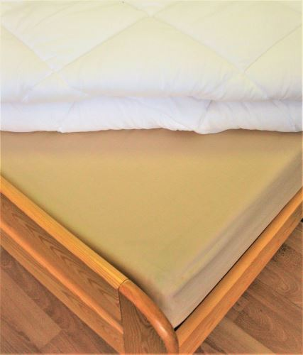 VERATEX Bavlněné prostěradlo dvoulůžko 220x240 cm (béžové)