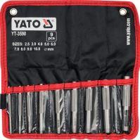 Yato Sada průbojníků na kůži 9 ks YT-3590