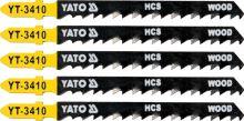 Yato List pilový do přímočaré pily na dřevo typ T 6TPI sada 5 ks YT-3410