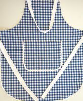 VERATEX Zástěra kuchyňská tkaný kanafas modré srdíčko 70x80cm