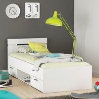 Multifunkční postel 90x200 MICHIGAN perleťově bílá IDEA nábytek