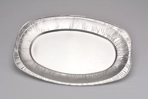 Oválný hliníkový tácek (35x24,5cm) - 10ks - 8591703222230