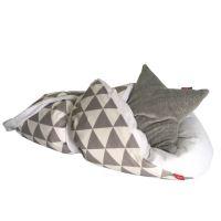 Aesthetic Rychlo-zavinovačka péřová -  100% bavlněné plátno - Triangel šedá / bílá 75x75cm