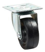 Otočné kolečko gumové Ø40 mm/30 kg