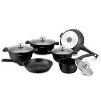 Herzog HR-ST16M: Sada nádobí 16 kusů černá